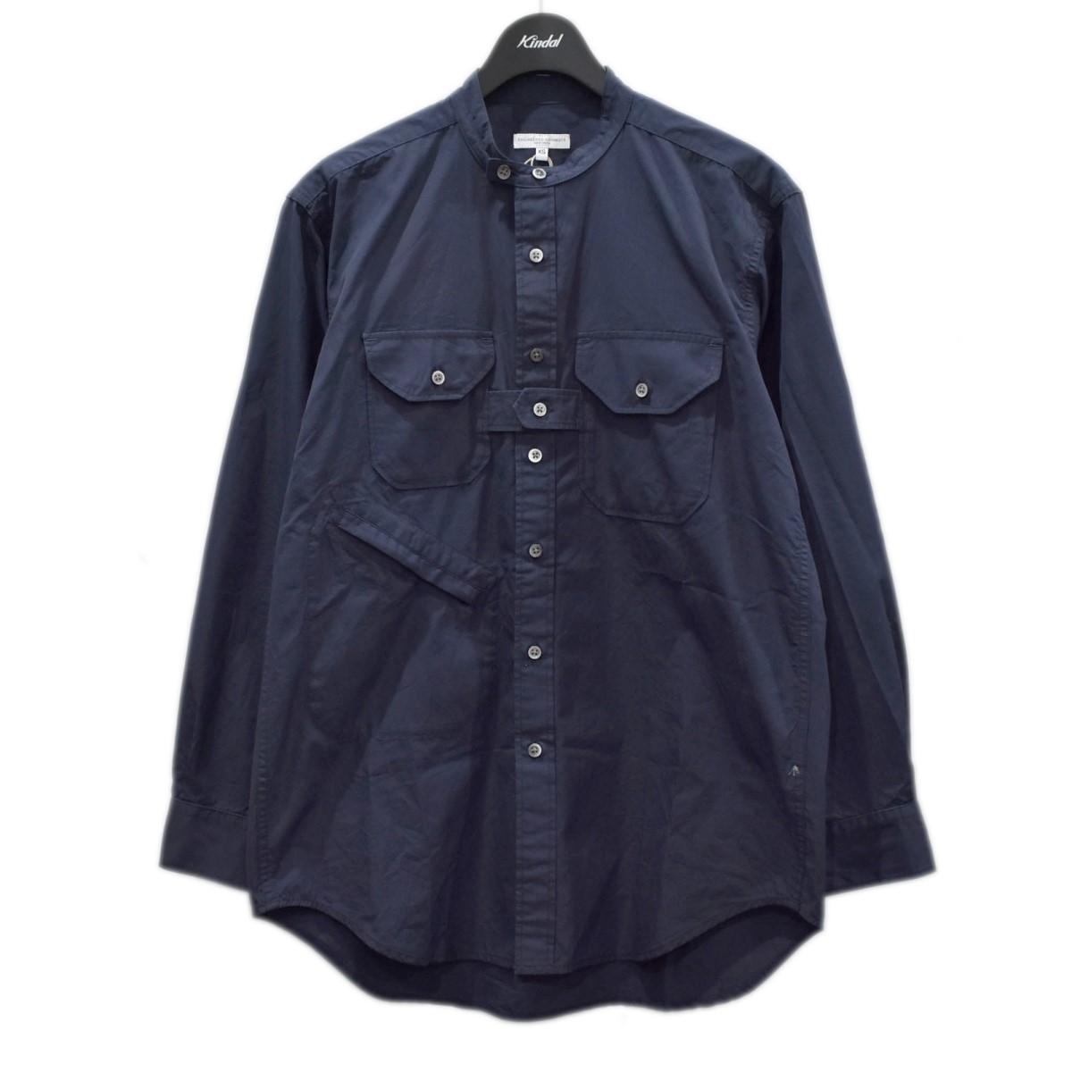 エンジニアードガーメンツ 中古 Engineered Garments21SS 送料無料お手入れ要らず Banded Collar Shirt 8月19日見直し ネイビー サイズ:XS 期間限定お試し価格 バンドカラーシャツ