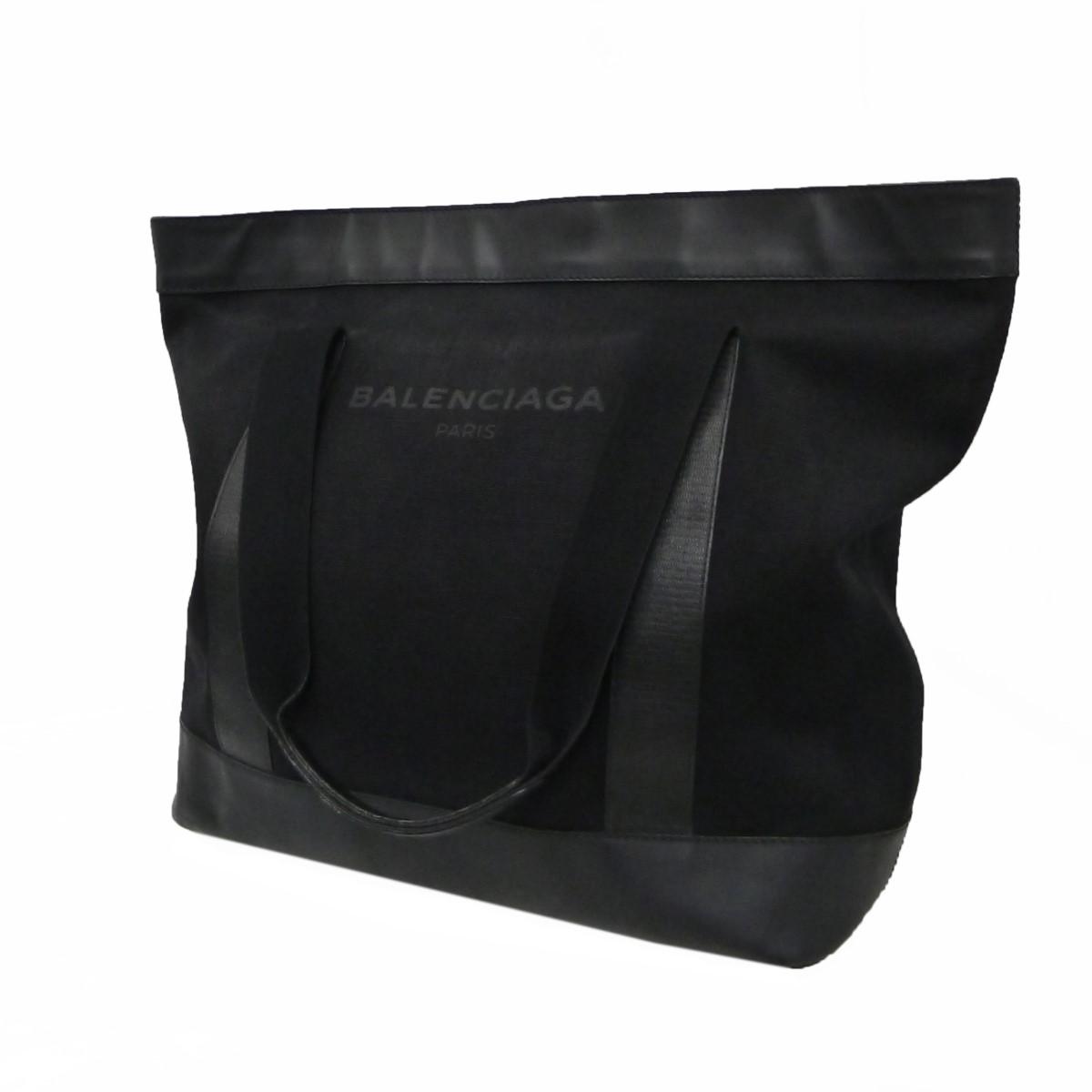 バレンシアガ 中古 BALENCIAGAキャンバストートバッグ ブラック 与え 新作からSALEアイテム等お得な商品満載 7月5日見直し