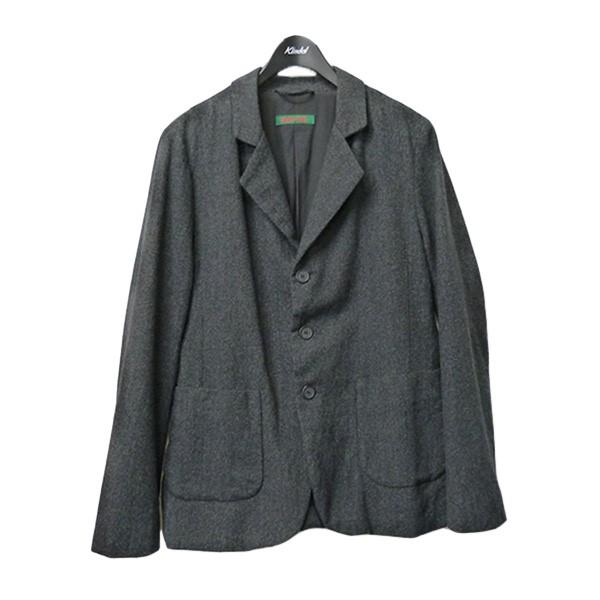 セール 登場から人気沸騰 ケイシーケイシー 中古 CASEY JAK PAT BIS ノッチドラペルウールジャケット チャコールグレー 本日の目玉 ウール3Bジャケット JACKET サイズ:M 100321
