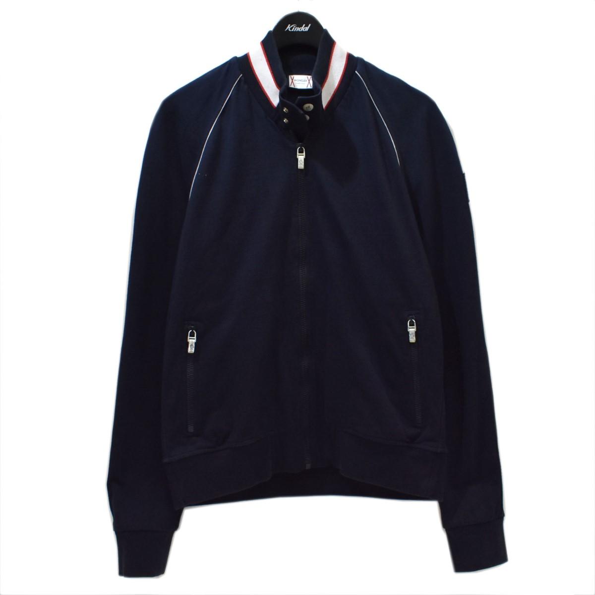 サイズ:M BLEU 【中古】MONCLER ブルー) ジップアップジャケット ネイビー 【130321】(モンクレール GAMME ガム