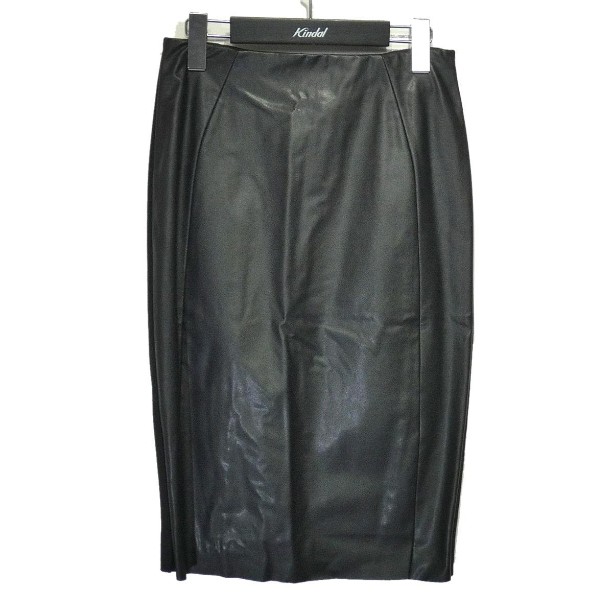 マックキュー 中古 MCQ 在庫あり フェイクレザースカート サイズ:S ブラック 新品 220321