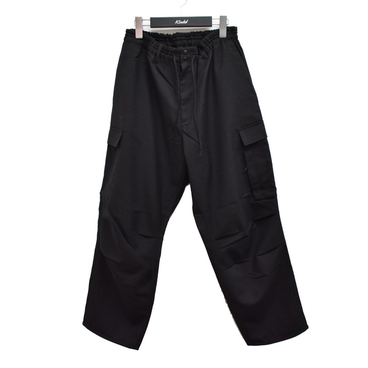 WOOL CROPPED 【270321】(ワイスリー) PANTS サイズ:S 19SS ブラック 【中古】Y-3 カーゴパンツ SATEEN