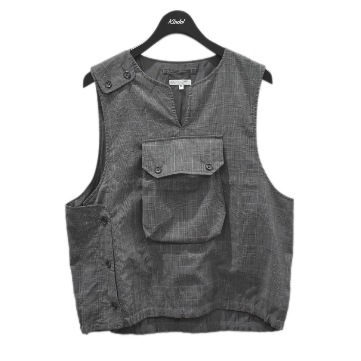 【280321】(エンジニアードガーメンツ) 19SS Garments Vest-Tropical Wool グレー Glen Cover Plaid 【中古】Engineered サイズ:M カバーベスト