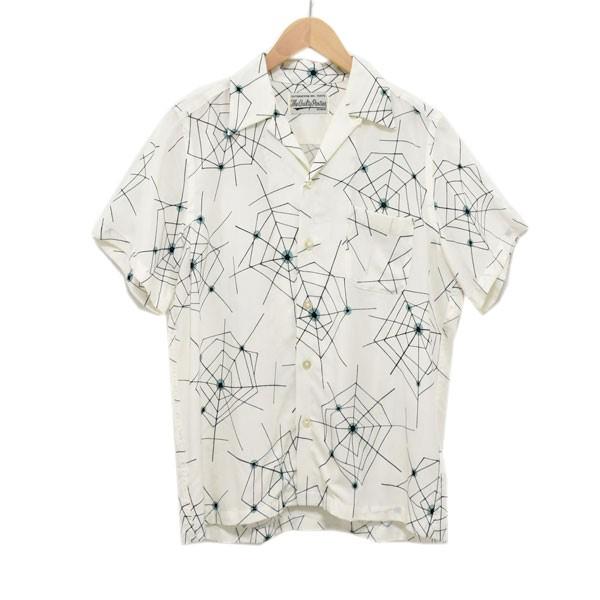 ワコマリア 中古 WACKO MARIA 18SS 080421 人気 総柄半袖シャツ セール ホワイト サイズ:XS