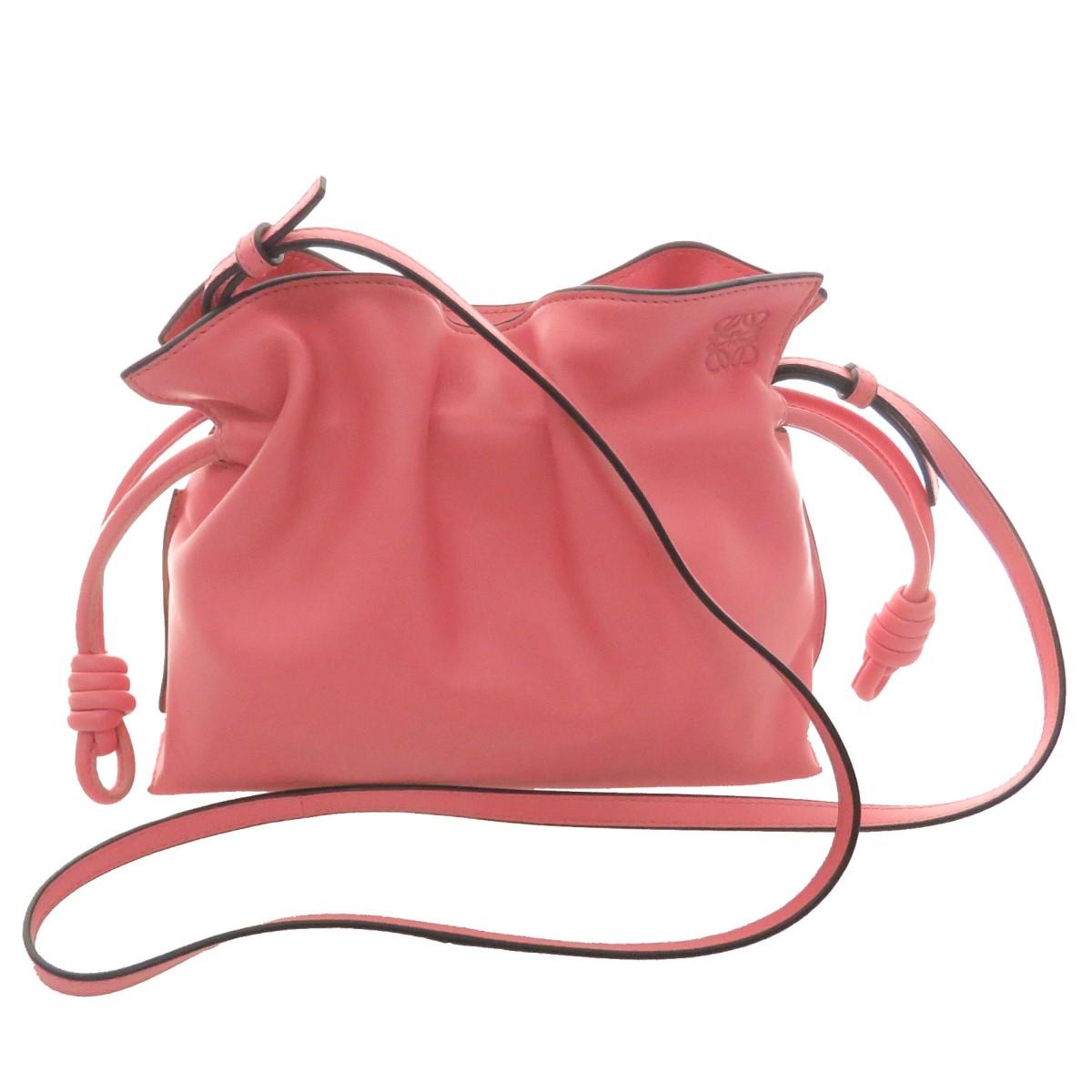 【中古】LOEWE フラメンコクラッチミニ バッグ ピンク サイズ:- 【010521】(ロエベ)