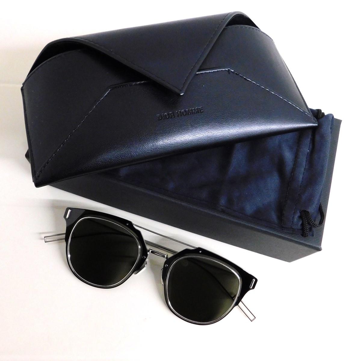 激安 激安特価 送料無料 ディオールオム 中古 Dior Homme COMPOSIT1.0 100521 サングラス 休み サイズ:6212-150 ブラック 0102M