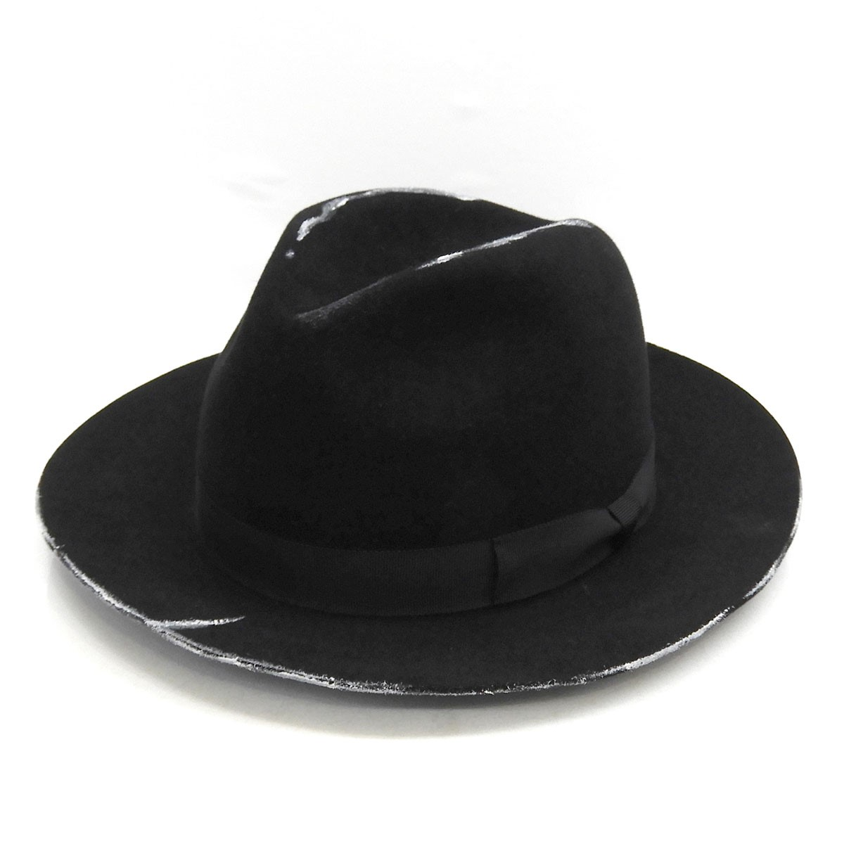 買物 ヨウジヤマモトプールオム 中古 YOHJI YAMAMOTO pour 公式ストア homme ブラック 160521 2020AW サイズ:3 アンテロープ帽体ソフトハット
