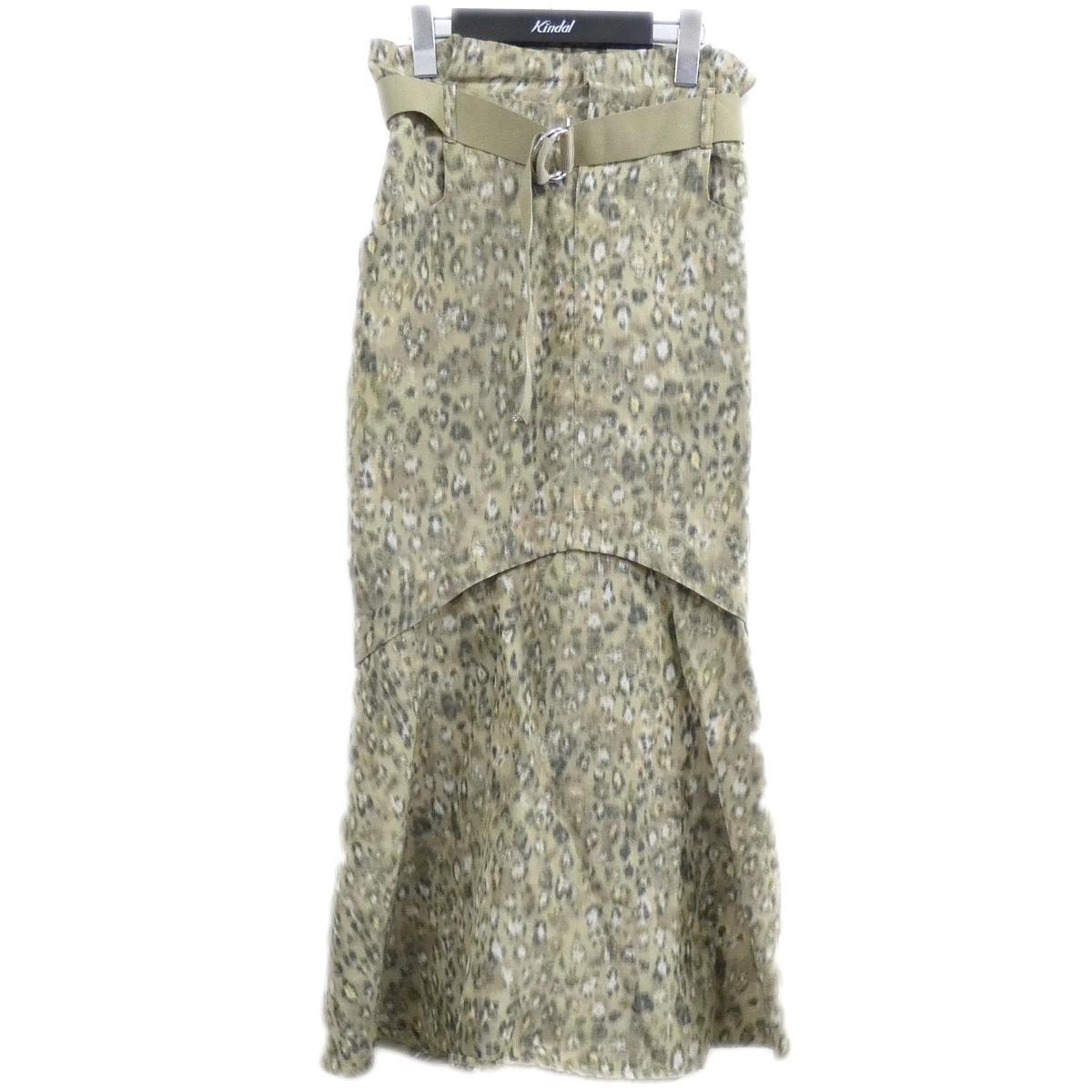 アンスリード 中古 UN3D. 新着セール 20SS サイズ:38 アニマルマーメイドスカート 人気海外一番 260521 ベージュ