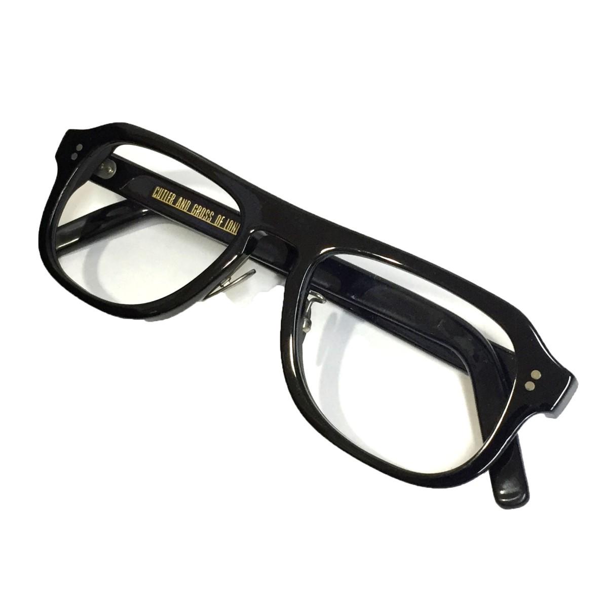 カトラーアンドグロス 中古 CUTLER 買収 男女兼用 AND GROSSM:0822 眼鏡 ブラック 145 7月1日見直し サイズ:5018