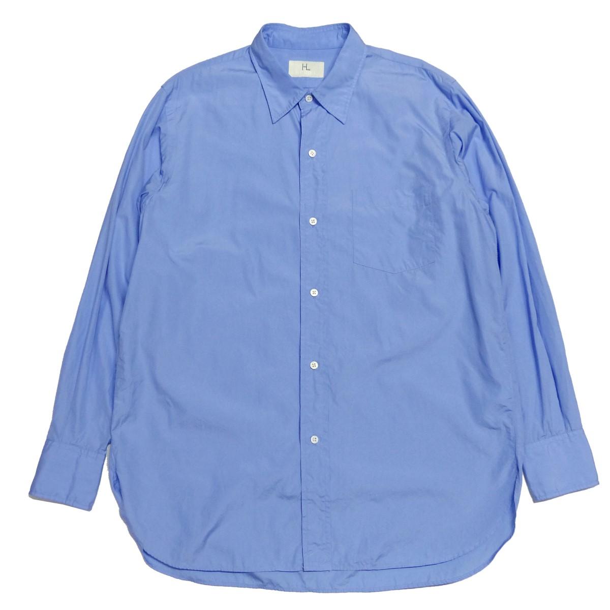 ヘリル 中古 HERILL 高い素材 21SS Suvin Reguler サイズ:1 サックスブルー Coller 300521 Shirts レギュラーシャツ 休み
