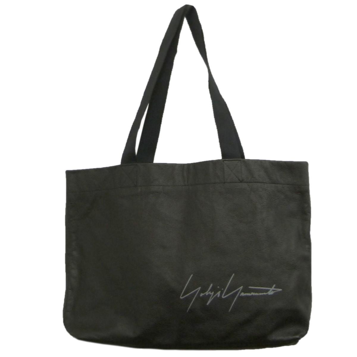 ヨウジヤマモト 人気ショップが最安値挑戦 中古 YOHJI YAMAMOTO ブランド品 180621 ブラック レザートートバッグ