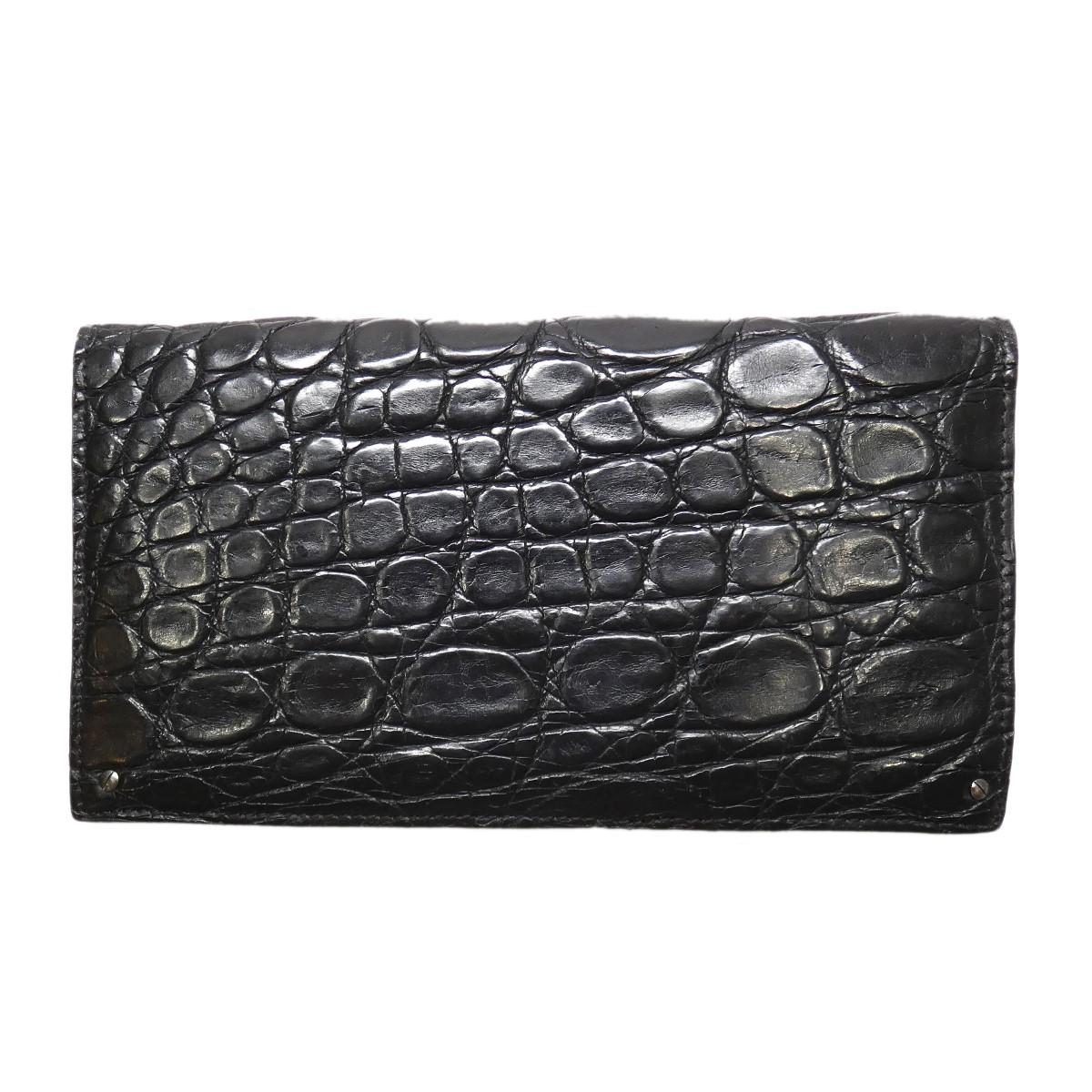 エルメネジルドゼニア 中古 Ermenegildo 使い勝手の良い Zegna 長財布 ブラック 270621 セットアップ