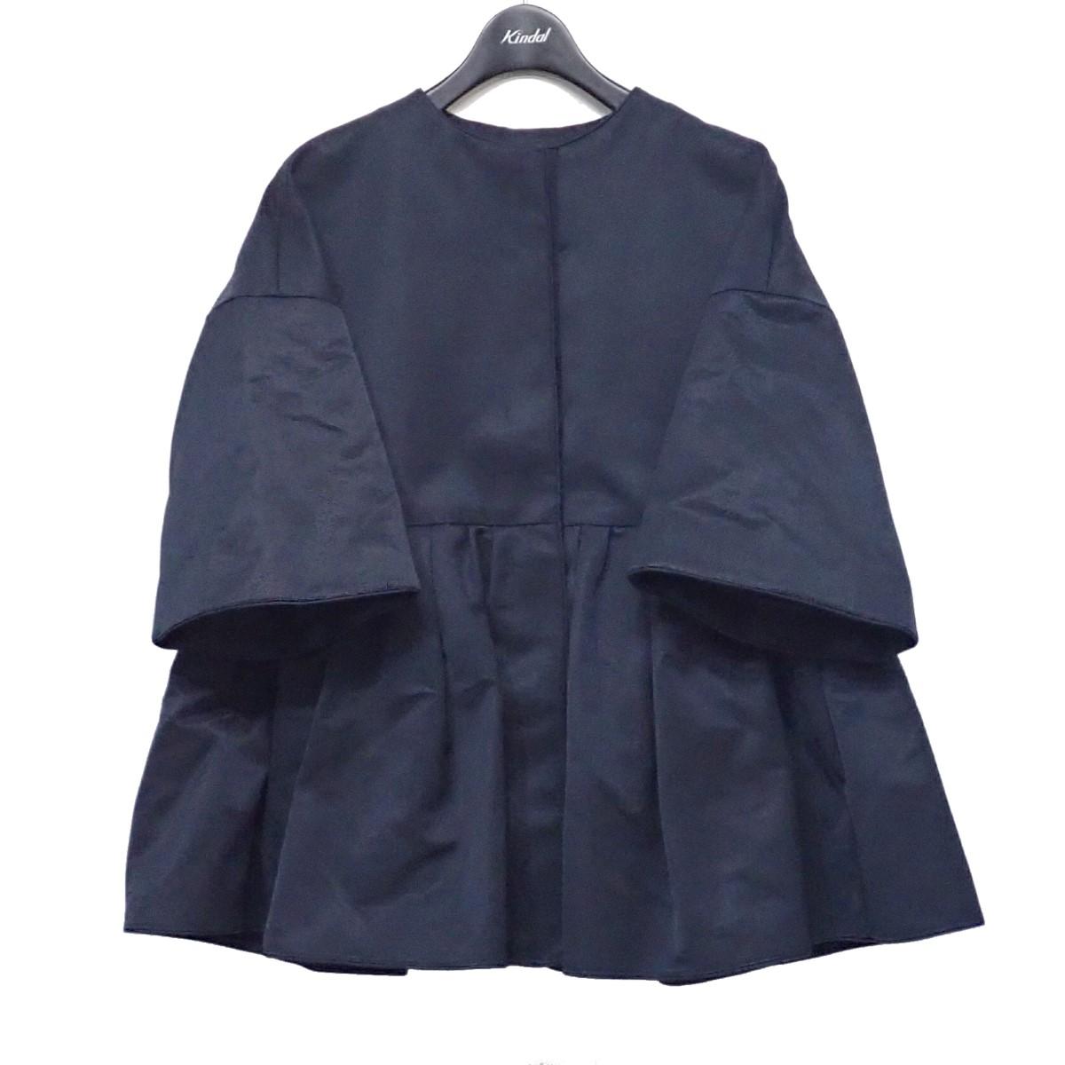 ドゥロワー 贈物 中古 DRAWER グログランショートスリーブジャケット ネイビー 出色 030721 サイズ:36