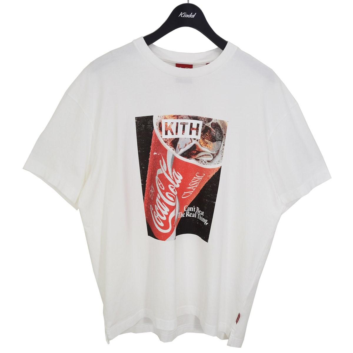 キス × コカコーラ ストアー 中古 KITH Coca Cola Soft コーラソフトドリンクヴィンテージTシャツ 270721 ホワイト 永遠の定番モデル Vintage サイズ:S Drink Tee