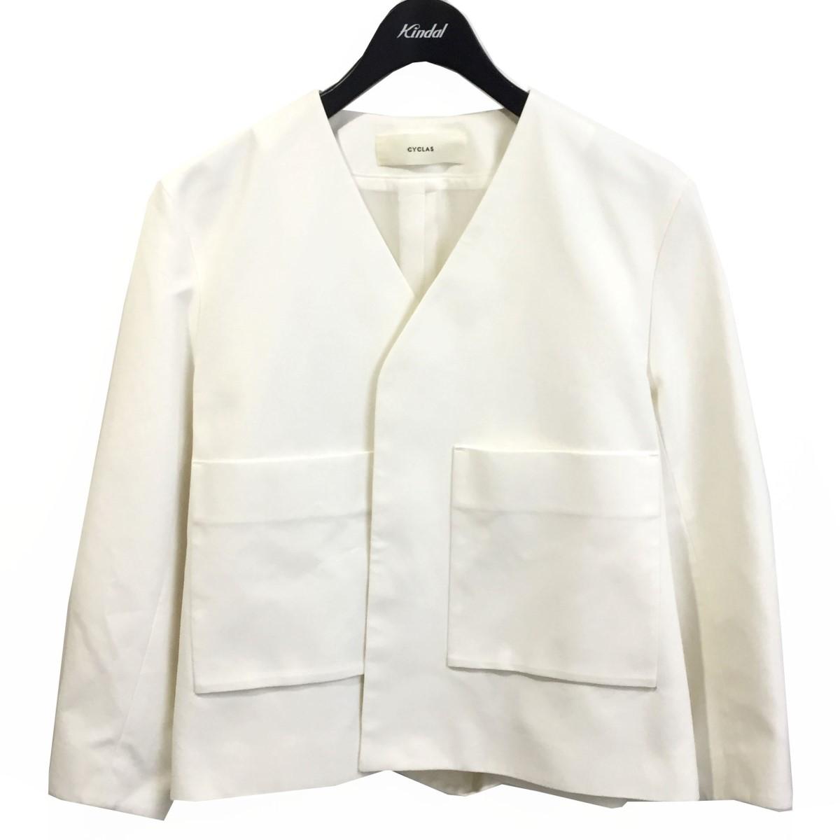 価格 交渉 送料無料 贈物 シクラス 中古 CYCLAS 20SS ノーカラージャケット サイズ:36 300721 ホワイト