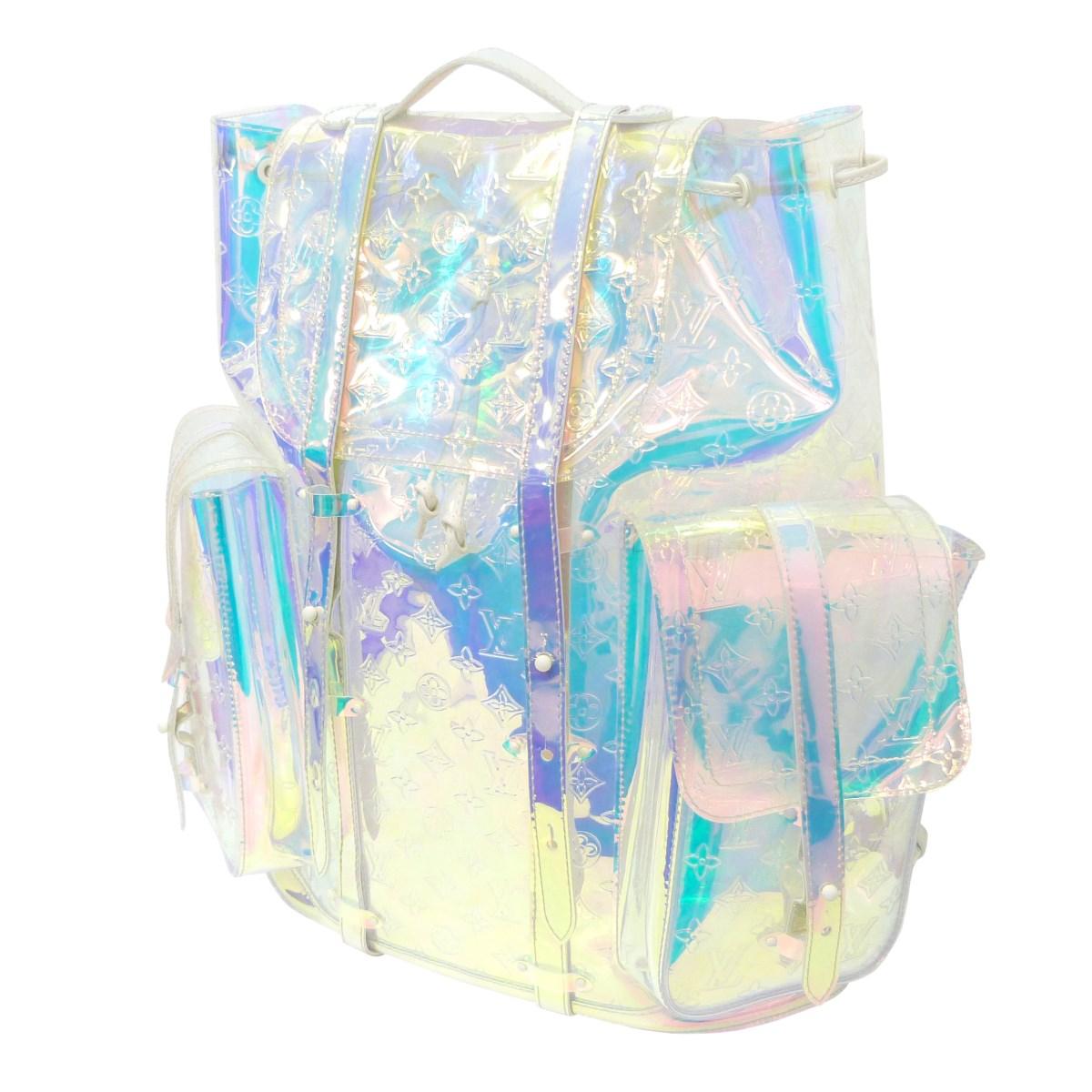 ルイヴィトン 中古 LOUIS 毎日続々入荷 VUITTON クリストファーGM 品質保証 Christopher Prism クリア 030821 サイズ:- バックパック Backpack