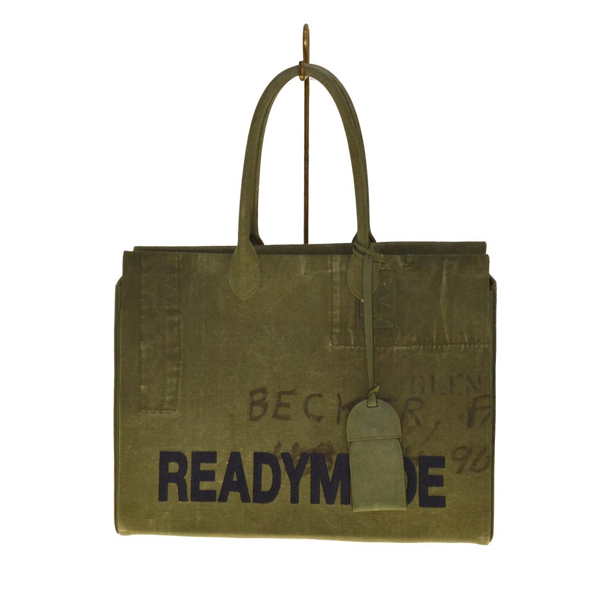 レディメイド 中古 READYMADE SHOPPING 倉 BAG40 トートバッグ 輸入 070821 カーキ ショッピング バッグ40