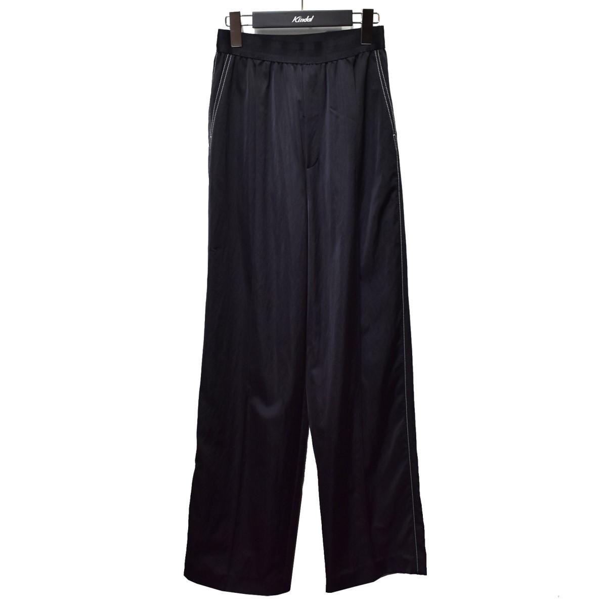 ルシェルブルー 中古 LE おしゃれ CIEL BLEU 21SS 定番スタイル Elastic ワイドパンツ ブラック サイズ:34 080821 Pants Waist