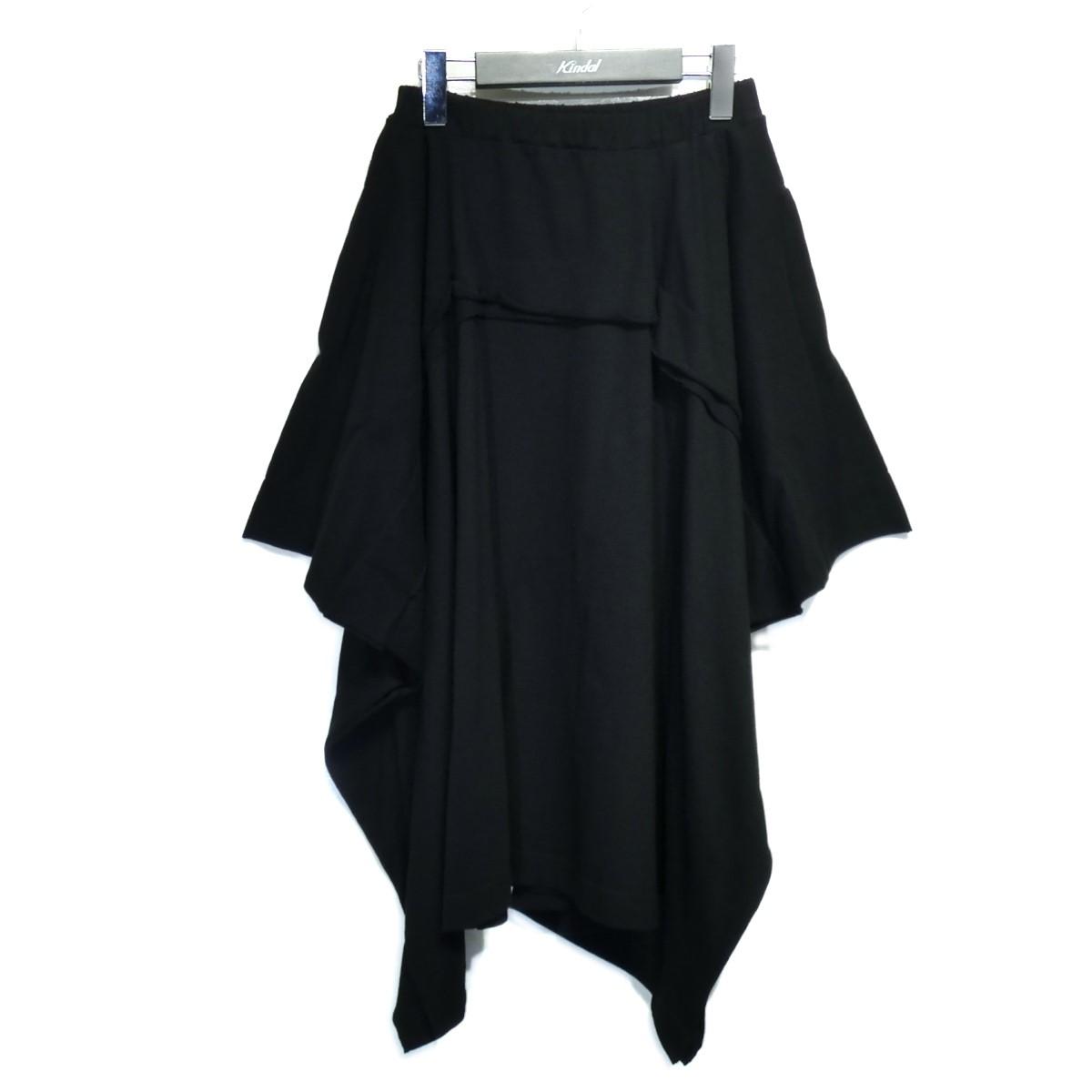リミフゥ 【中古】LIMIfeu 「20/-C Plain Stitch Cut Out Design SKT」変形スカート ブラック サイズ:2 【110821】(リミフゥ)