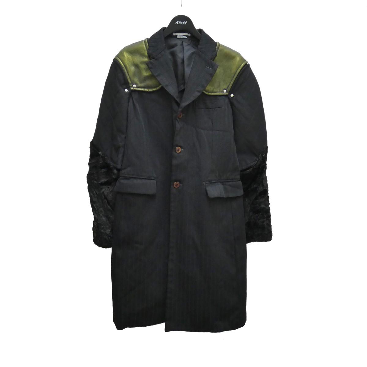 コムデギャルソンオムプリュス 中古 COMME des GARCONS HOMME ブラック 全商品オープニング価格 240821 サイズ:S 超特価 平和の鎧 デザインコート PLUS