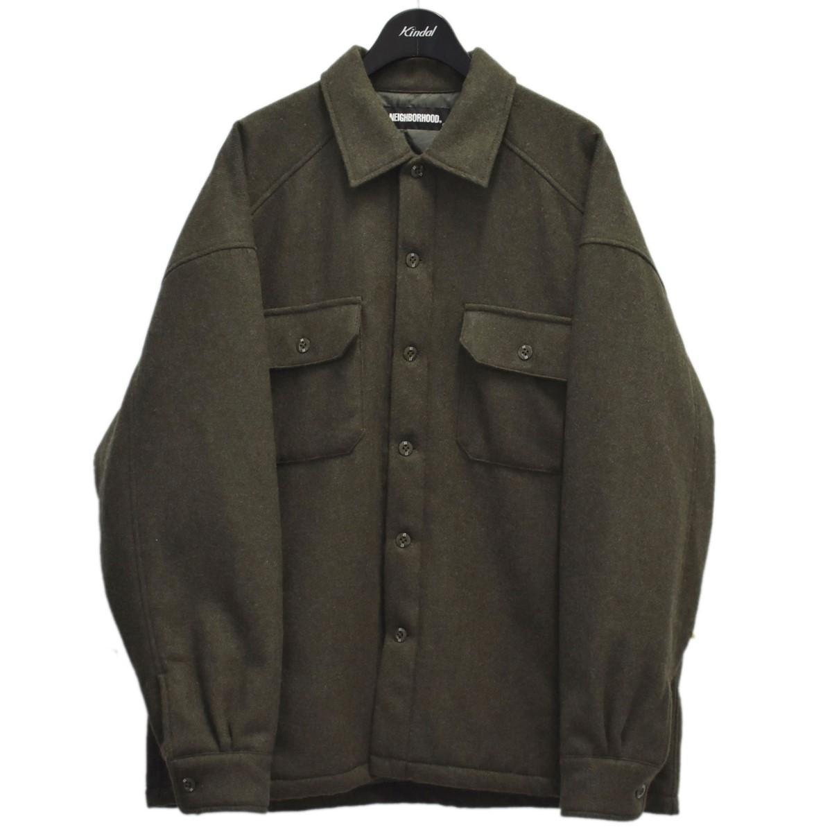 ネイバーフッド 訳ありセール 格安 中古 NEIGHBOR HOOD 20AW CORPS WE-SHIRT オリーブ 2020 サイズ:S CPOシャツ . 150921 LS