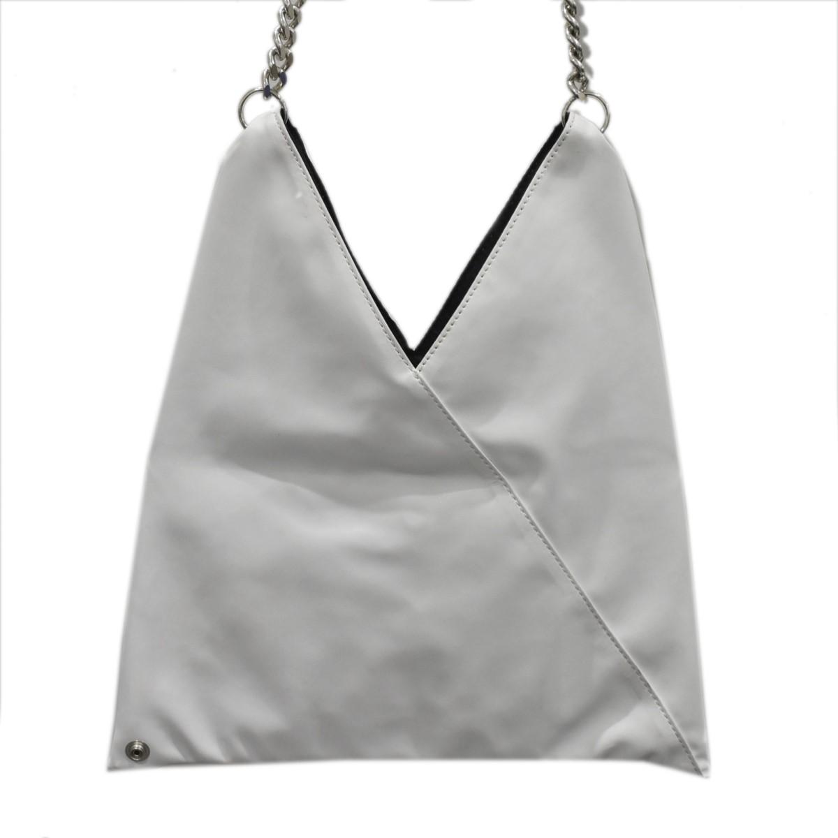 エムエムシックス 中古 MM6 チェーンショルダーバッグ japanese ランキングTOP10 290921 bag サイズ:- ジャパニーズバッグ ホワイト 卸売り