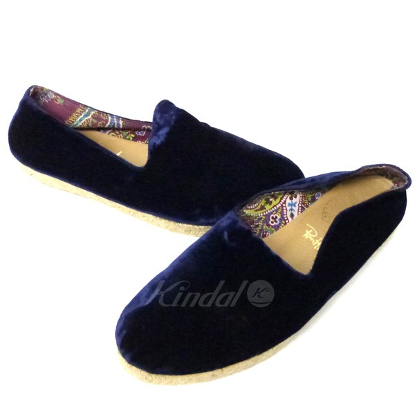 Ron Herman X PENELOPE CHILVERS velour espadrille shoes navy size: 37 (LONDON HEARTS man Penelope till Bath)
