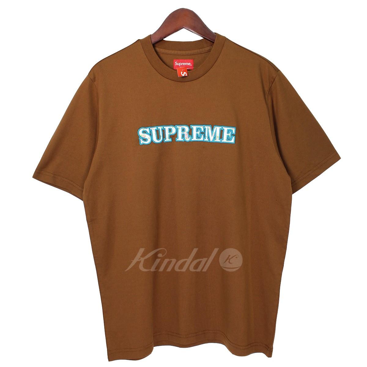【中古】SUPREME 18AW Floral Logo Tee フローラルロゴTシャツ ブラウン サイズ:S 【送料無料】 【041018】(シュプリーム)
