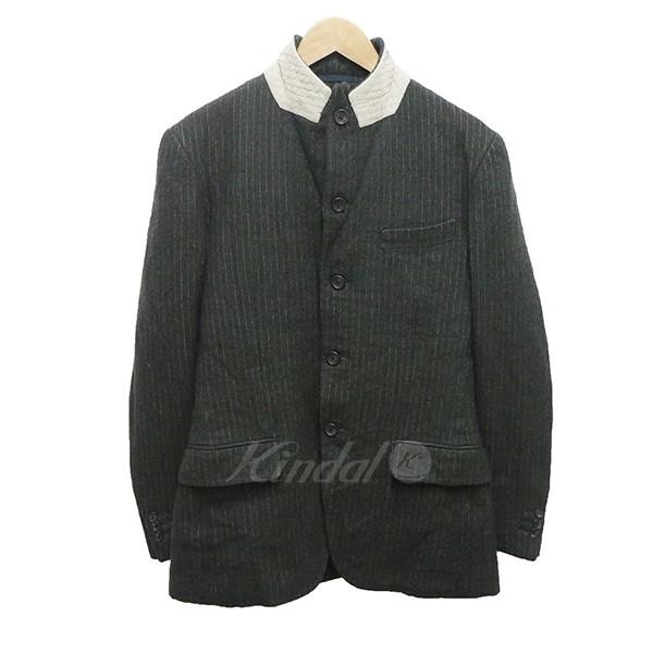 【中古】N4 テーラードジャケット ウールジャケット ダークグリーン サイズ:2 【送料無料】 【041018】(エヌフォー)