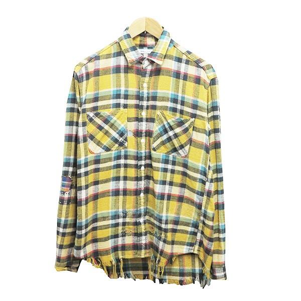 【10月15日 お値段見直しました】【中古】Ron Hermanリメイクネルシャツ イエロー M イエロー サイズ:M 【送料無料】