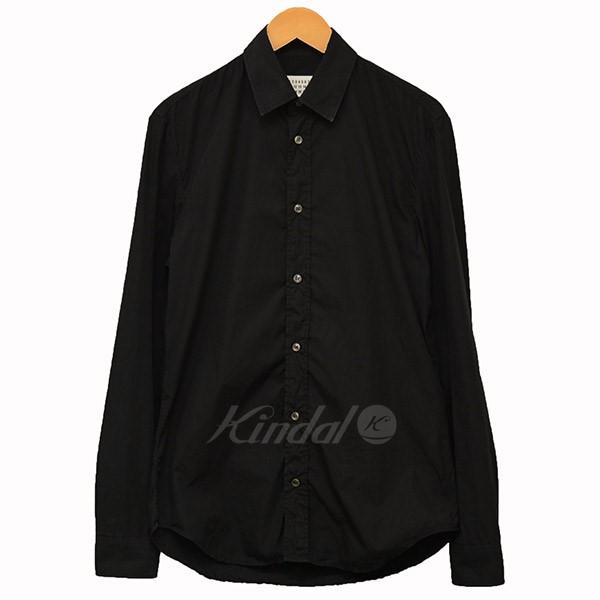 【中古】Martin Margiela 10 2017AW コットンシャツ シャツ ブラック サイズ:38 【送料無料】 【041018】(マルタンマルジェラ 10)