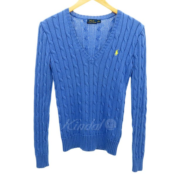 63bc5f4bbee POLO PALPH LAUREN cable knit sweater light blue size: XS (polo Ralph Lauren)