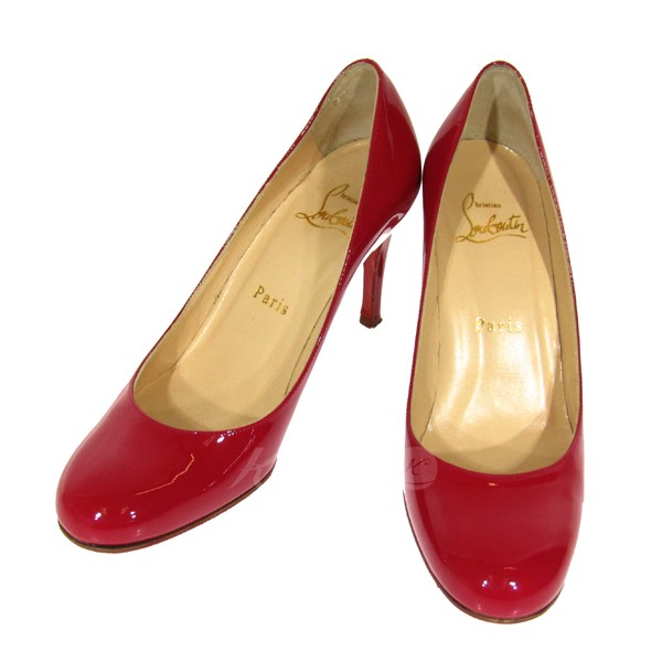 5499d2c7bae CHRISTIAN LOUBOUTIN patent high-heeled shoes pumps pink size: 34  (クリスチャンルブタン)