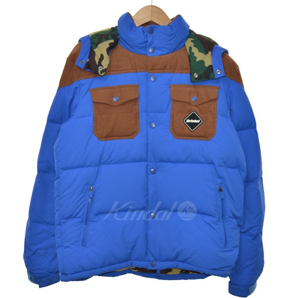 【中古】F.C.R.B.×NIKE FABRIC MIX DOWN JACKET ダウンジャケット 【送料無料】 【050944】 【KIND1551】