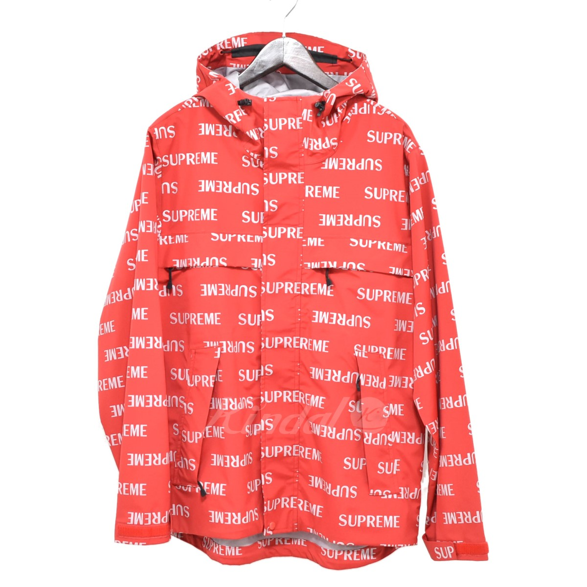 kindal supreme 16aw 3m reflective repeat taped seam jacket red size