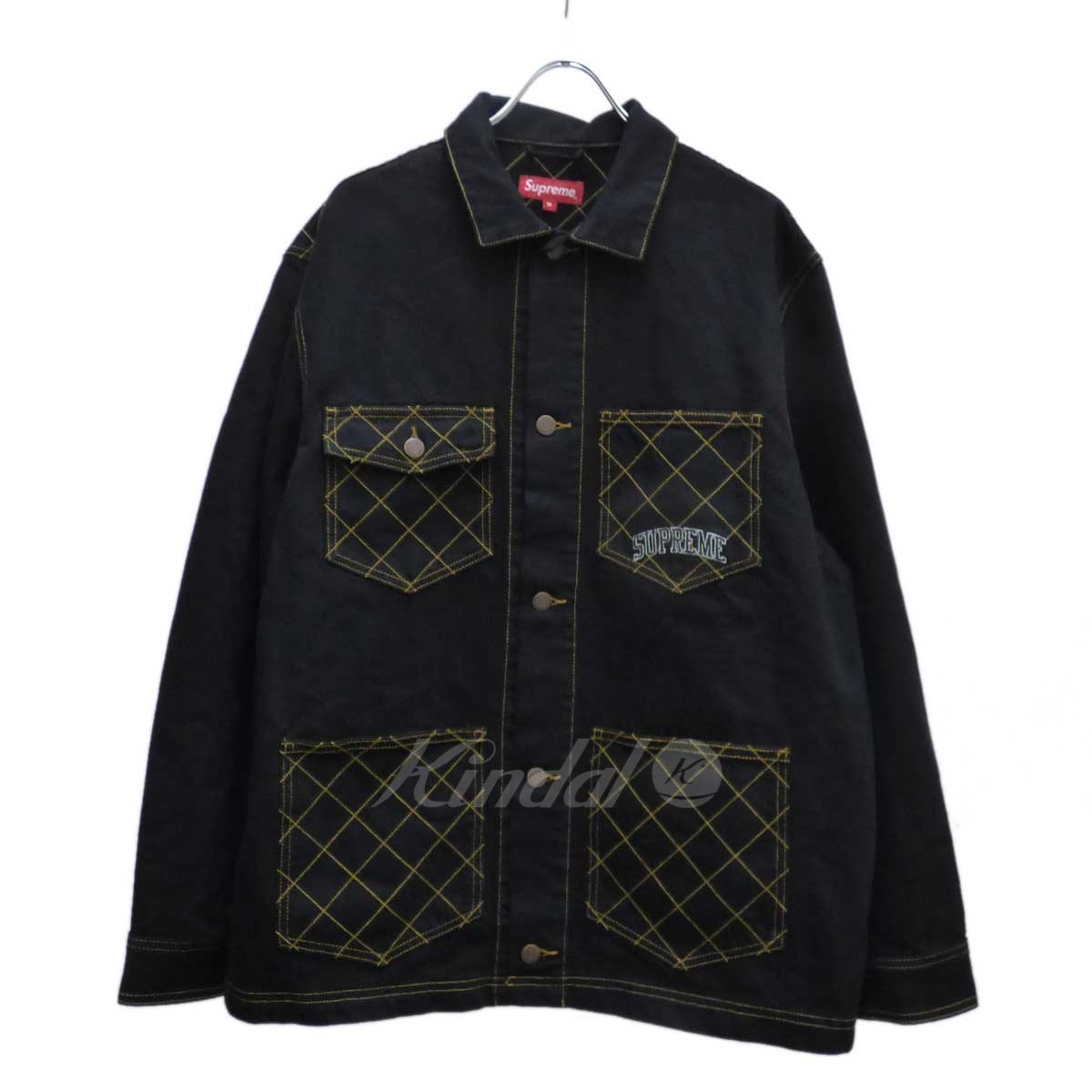 【中古】SUPREME Diamond Stitch Denim Chore Coat デニムコート 【送料無料】 【180509】 【KIND1551】