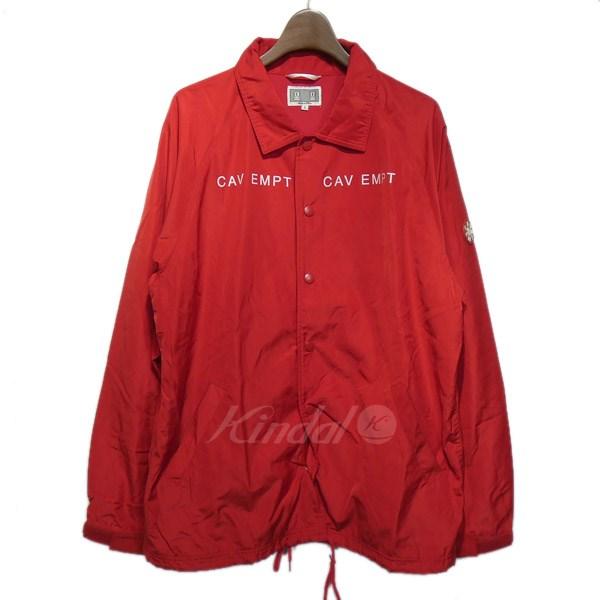 【中古】C.E. 「PRE-COG COACH」バックプリントコーチジャケット レッド サイズ:L 【送料無料】 【251018】(シーイー)