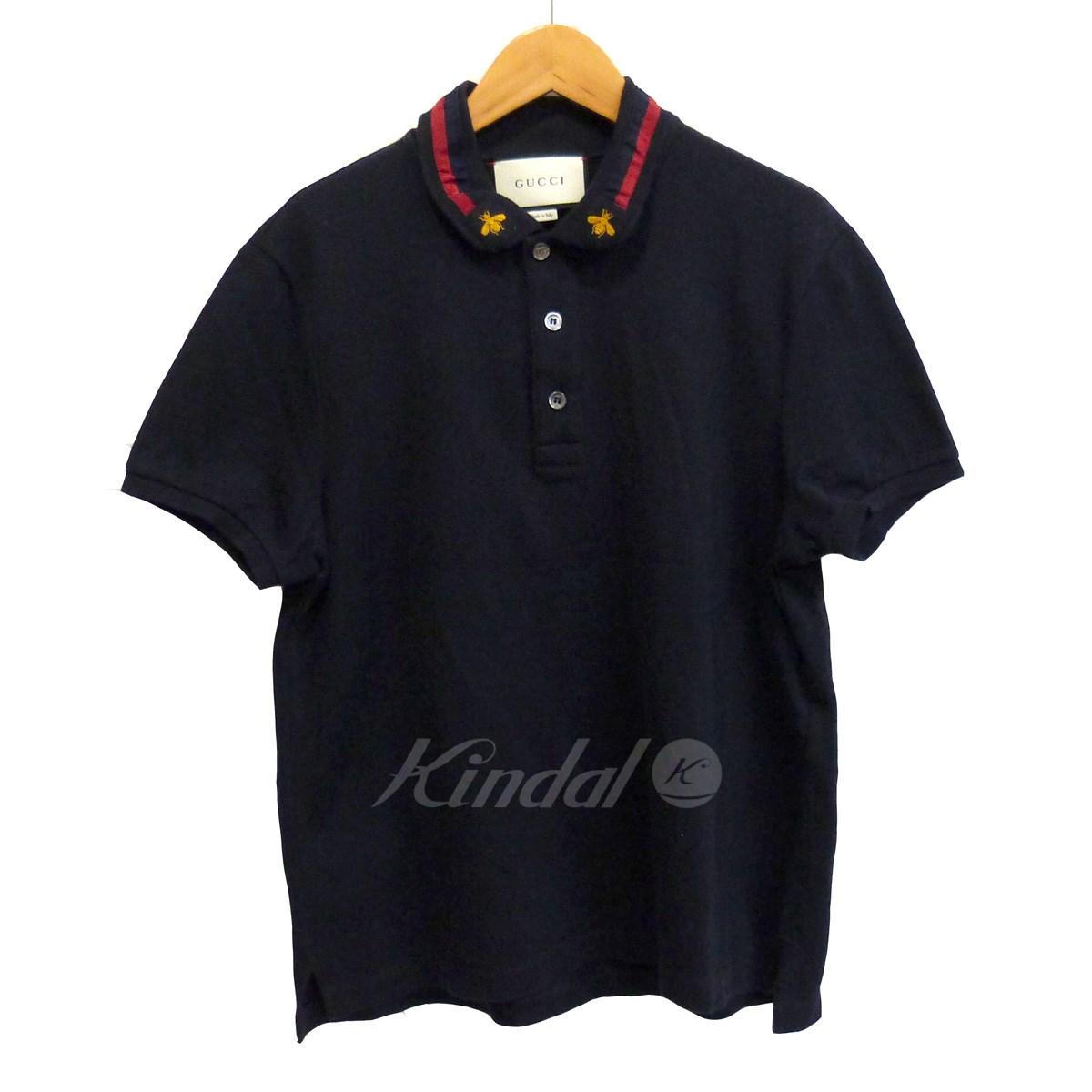 【中古】GUCCI 【17SS】ポロシャツ ブラック サイズ:M 【送料無料】 【131218】(グッチ)