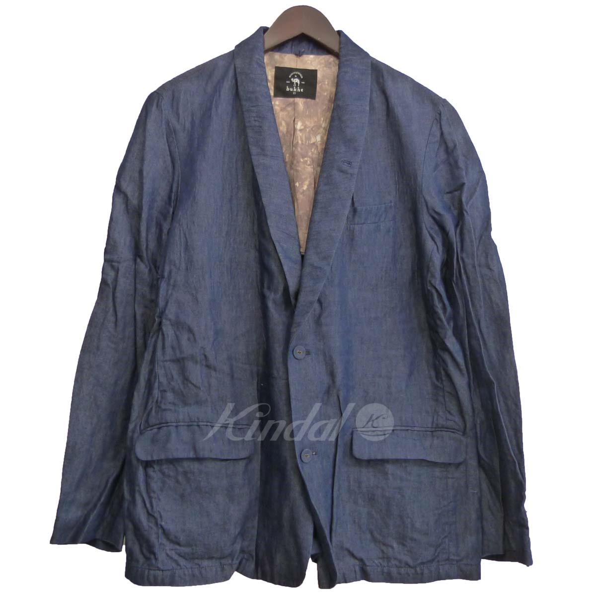 【中古】bukht ショールカラー2Bセットアップスーツ ネイビー サイズ:1 【送料無料】 【151218】(ブフト)