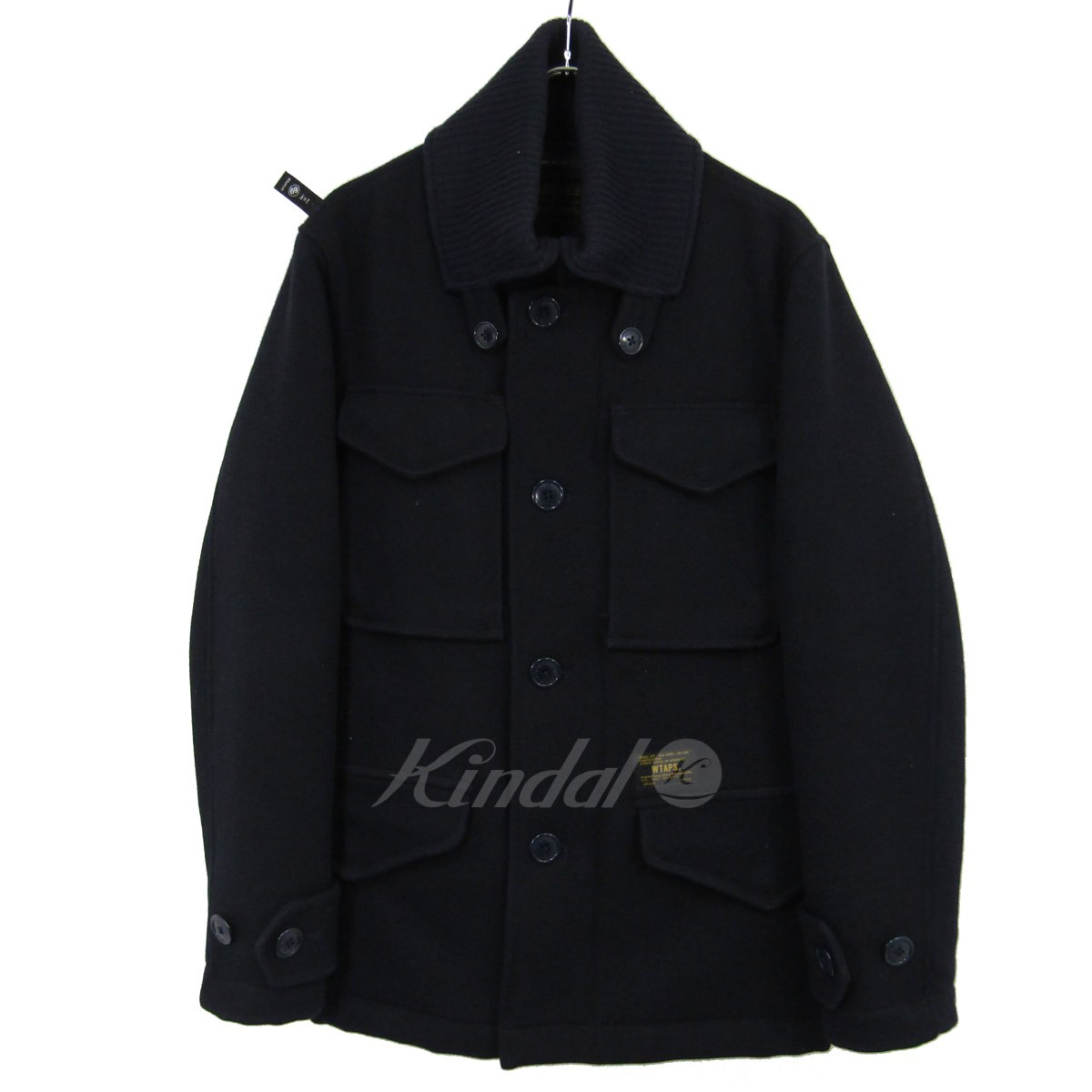 29b3969307d5d kindal: WTAPS M-65 wool melton military jacket navy size: 1 (double ...