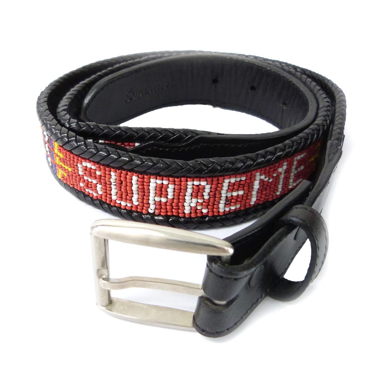 【中古】SUPREME 12SS「Beaded Belt」ビーズベルト ブラック サイズ:L/XL 【120320】(シュプリーム)