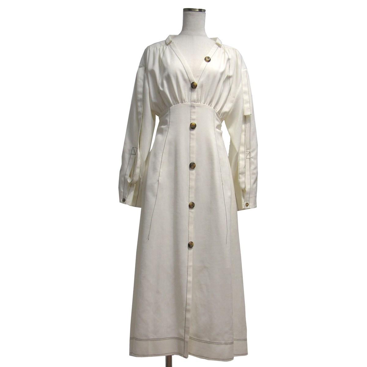 【中古】IRENE 2019SS Stitch Dress ステッチディティールドレス ワンピース アイボリー サイズ:36 【050520】(アイレネ)
