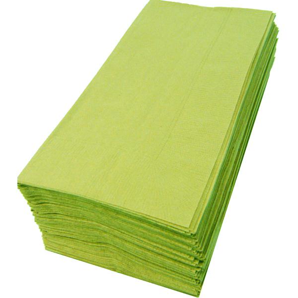 【紙ナプキン】8つ折り2PLYナプキン「アシッドグリーン」(1ケース2000枚)