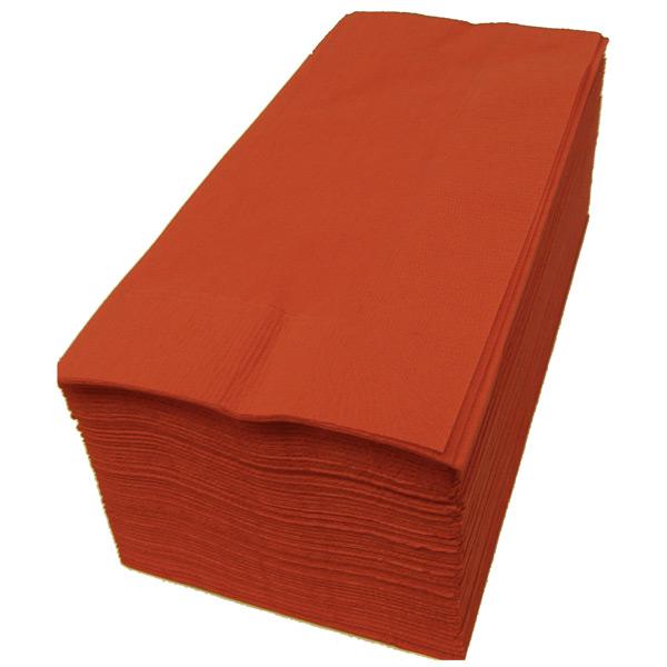【紙ナプキン】8つ折り2PLYナプキン「テラコッタ」(1ケース2000枚)
