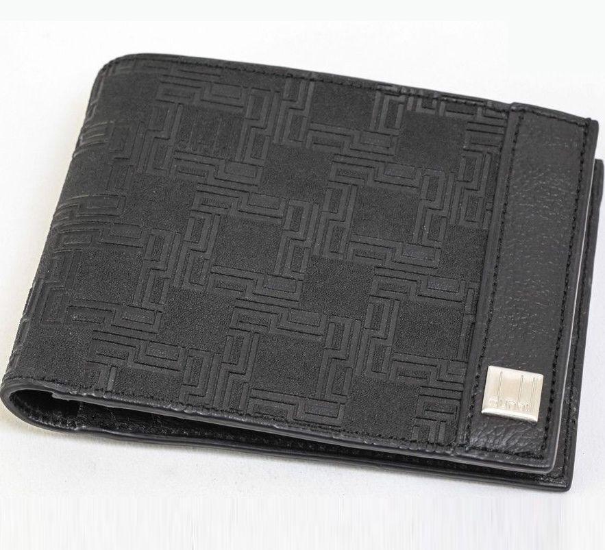 Dunhill/ダンヒル PVC Leather Bifold wallet with Coin Case Black PVC レザー バィフォールド 小銭入れ コインケース メンズ #SI490【中古】