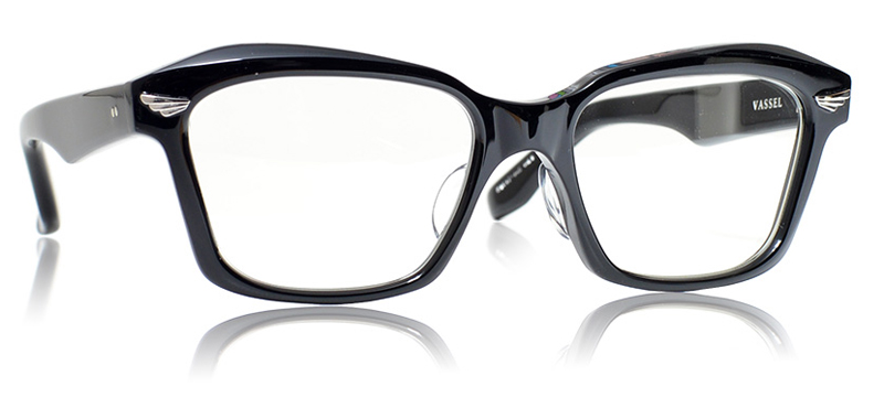 GROOVER(グルーヴァー)日本製・アセテートメガネフレームVASSEL カラー:1 ブラック【smtb-TD】