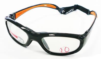 お子様用スポーツグラス RECSPECS(レックスペックス)MX-20B ブラック51mmサイズ/バスケットボール・バレーボール対応度付きゴーグルタイプ眼鏡フレーム【smtb-TD】