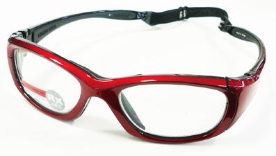お子様用スポーツグラス RECSPECS(レックスペックス)MX-30 クリムゾン/ブラック53mmレギュラーサイズ/バスケットボール・バレーボール対応度付きゴーグルタイプ眼鏡フレーム【smtb-TD】