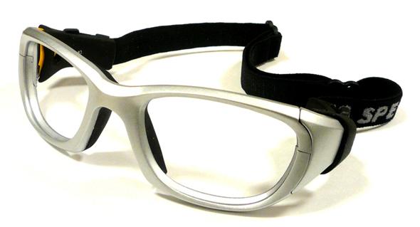 お子様用スポーツグラス RECSPECS(レックスペックス)MX-31 プレートシルバー53mmレギュラーサイズ/サッカー・バスケットボール・バレーボール対応度付きゴーグルタイプ眼鏡フレーム【smtb-TD】