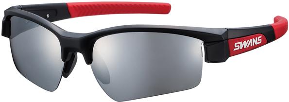 売り出し ギフト プレゼント ご褒美 SWANS スワンズ 日本製レンズ交換可能タイプスポーツサングラスLION SIN ライオン シン LI SIN-0701 カラー:ブラック×レッド×レッド smtb-TD シルバーミラー×スモークレンズ